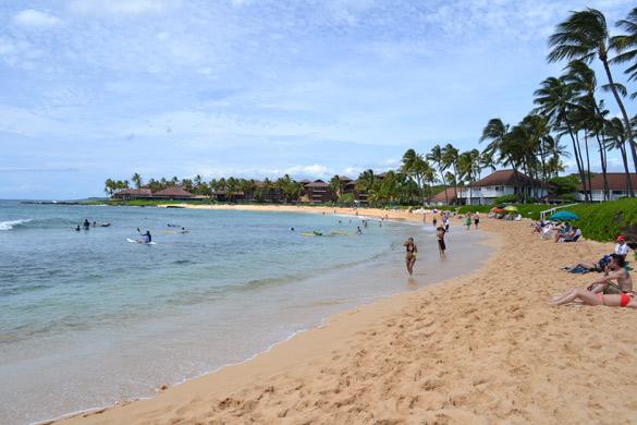 Beach next to Poipu Beach, Kauai