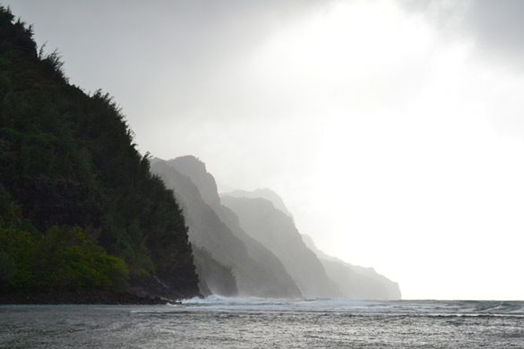 Start of the Na Pali Coastline
