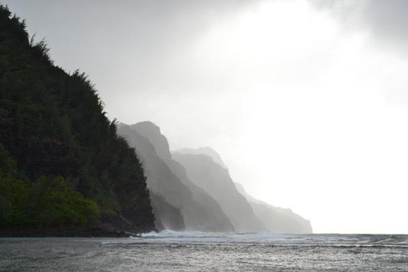 Start of the Na Pali Coastline