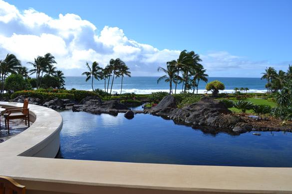 Kauai view from the Grand Hyatt Hotel