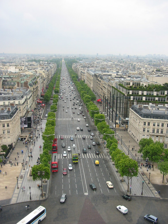 A view of the Champs Elysees