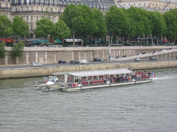 on the Seine River in a bateau mouche