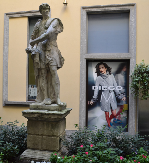 fashion and statue in Milan, italy
