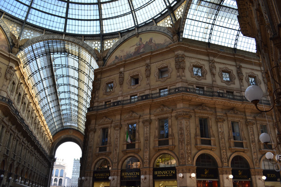 shopping arcade in Milan, Italy