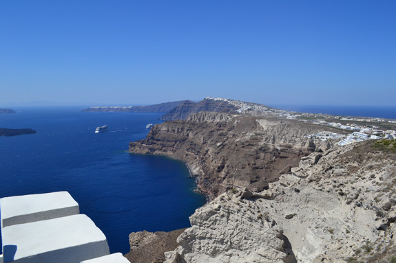 Along the ridge of Santorini, Greece