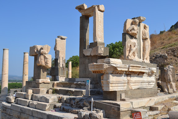 Temple ruins in Ephesus