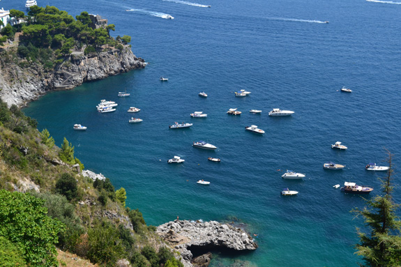 A view of the Amalfi coast