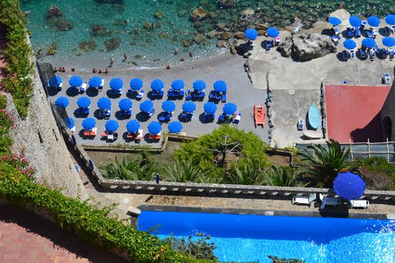 beach scene in Italy