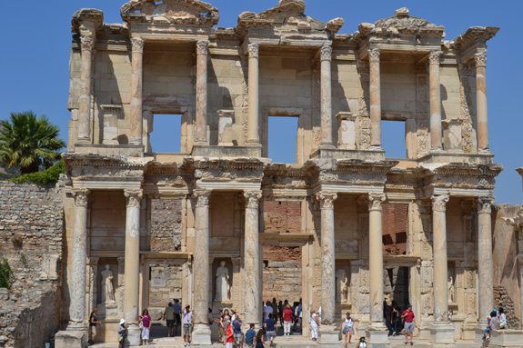 library facade in Ephesus