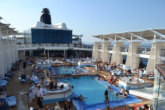 a ppol on a cruise ship