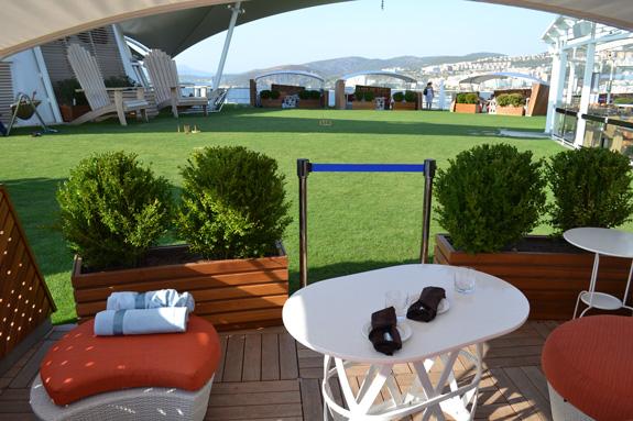 grass on a cruise ship