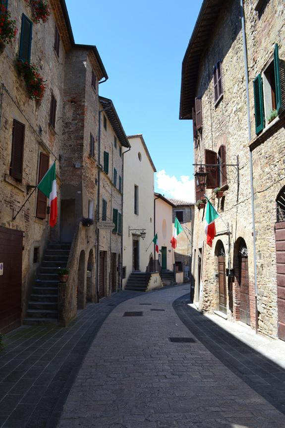 back street in Montone, Italy