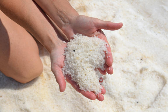 Salt from the Dead Sea in Israel
