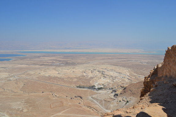 view from Masada in Israel