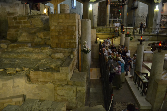 ruins of first century house in Nazareth