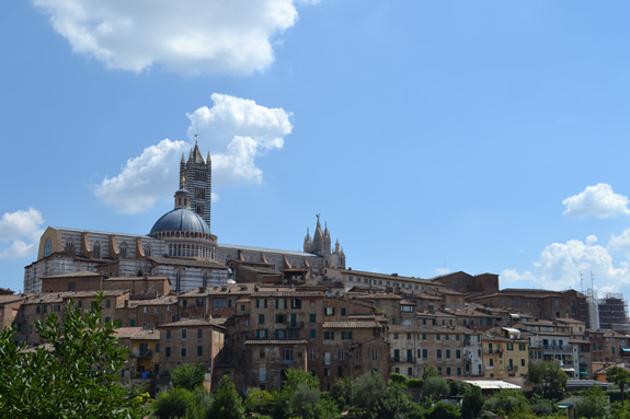 A view of Siena, Italy