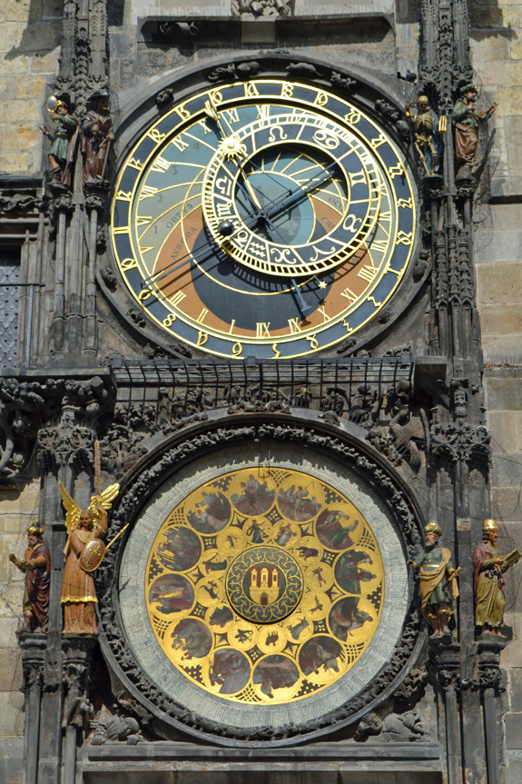 Prague's clock in the Old Town Square