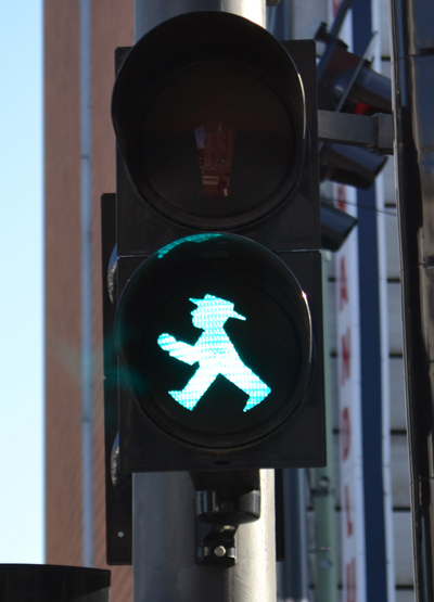 traffic light in East Berlin