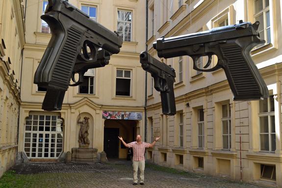 artwork in Prague, Czech Republic