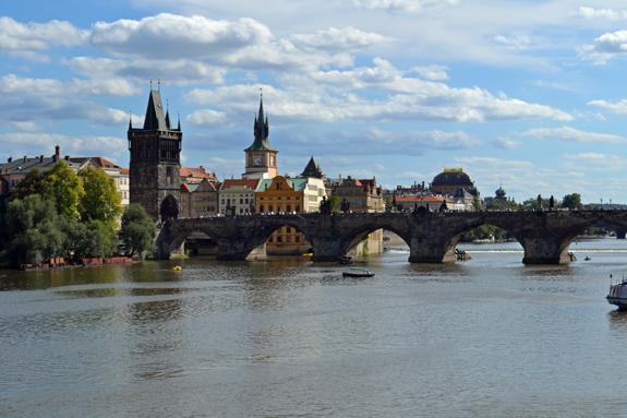 Prague river scene