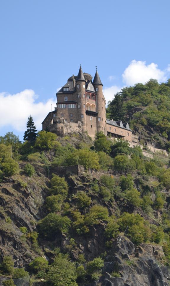 Rhine river valley castle
