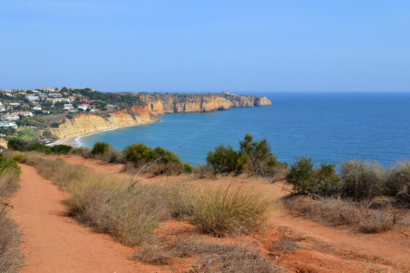 hiking path above the bluffs over the Atlantic Ocean, Portugal