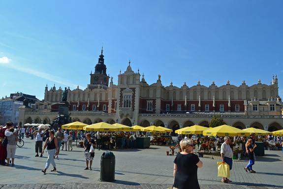 Rynek Glowny in Krakow, Poland