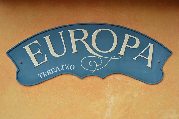 sign of Europa cafe