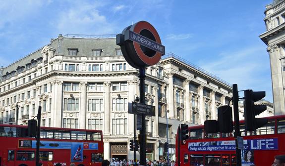 Underground sign in London