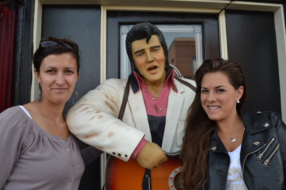 Statue of Elvis in Williams, AZ