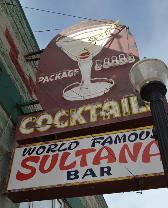 Sultana bar in Williams, AZ