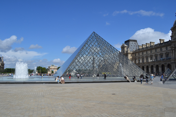 I.M. Pei's pyramid in front of the Louvre Museum