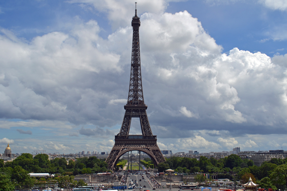 View of the Eiffel Tower from the Palais du Chaillot