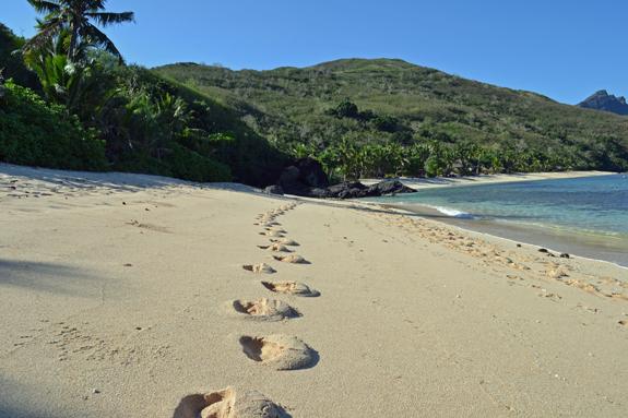 Walking on Likuliku Beach