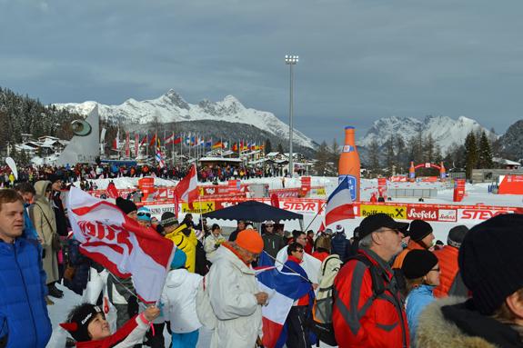 ski jump competition fans