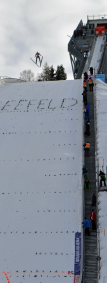 ski jumper in Seefeld, Austria