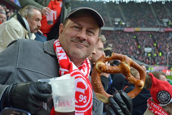 soccer game pretzel