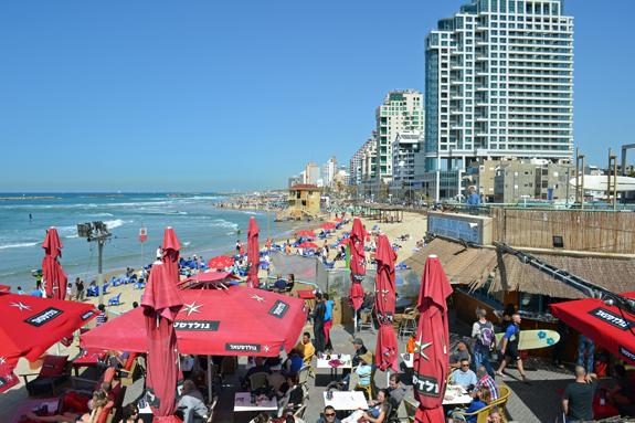 beach cafe in Tel Aviv