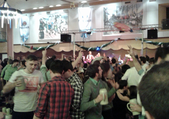 beer hall crowd