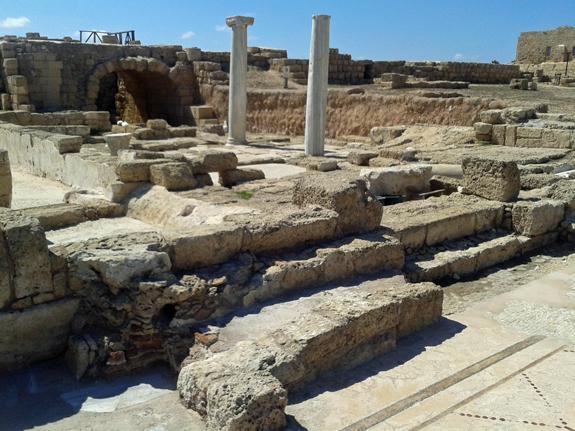 building ruins in Israel