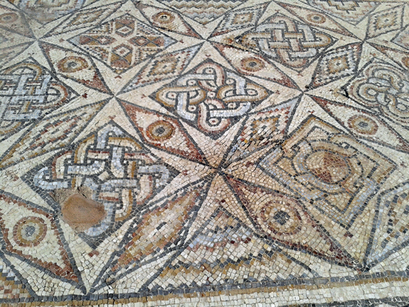 Floor mosaic in Caesaera