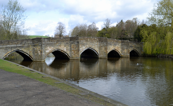 old stone bridge in Bakewell