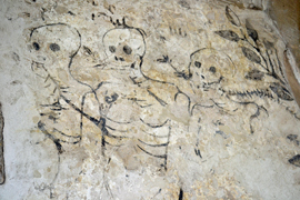skeleton drawings in Haddon Hall