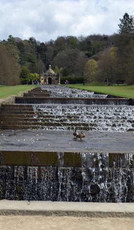 water cascade at Chatsworth