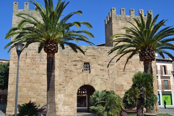 old town gate of Alcudia, Majorca