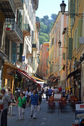 Vieux Ville street in Nice, France