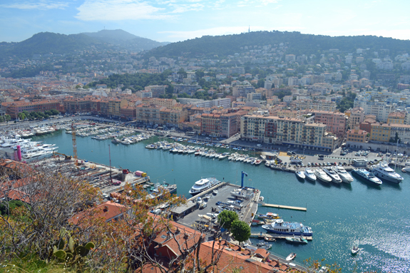 view of Nice port