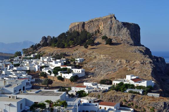 Lindos acropolis rock