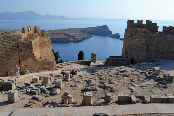 Lindos acropolis view