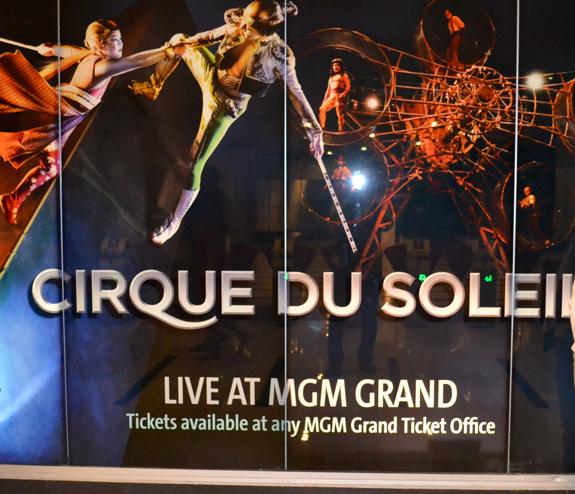 Cirque Du Soleil sign